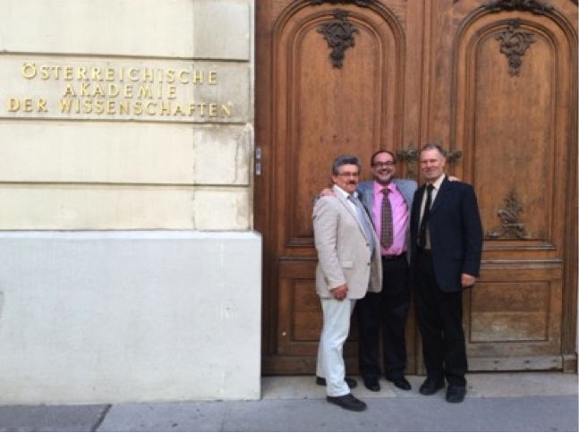Bob Hazen with Christian Koeberl and Hermann Erlich at the Austrian Academy of Sciences