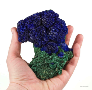 photo of azurite and malachite which are copper carbonates