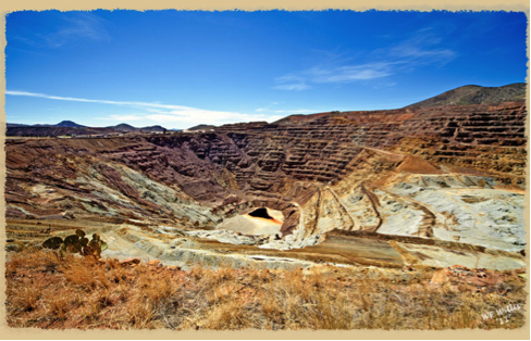 photo of a sulfur strip mine