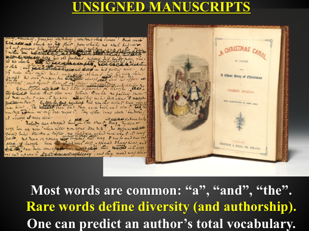 photo of unsigned manuscripts